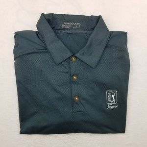 Nike Golf TPC Sawgrass Polo Shirt Large Fit Dry